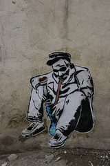 smoke (- FRZ -) Tags: old man graffiti persian stencil iran smoke freeze  wheatpast   frz