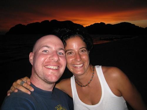 Catharine and I at sunset - Long Beach, Koh Phi Phi Don