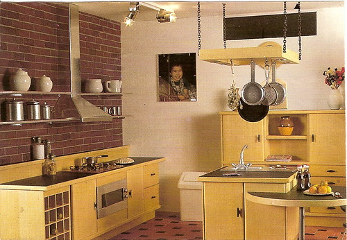 Modern lightwood dollhouse kitchen