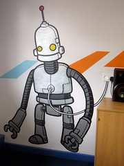 Recharging: The Yard Youth Centre (Hammotime) Tags: graffiti robot recharge youthcentre hammo heywood theyard