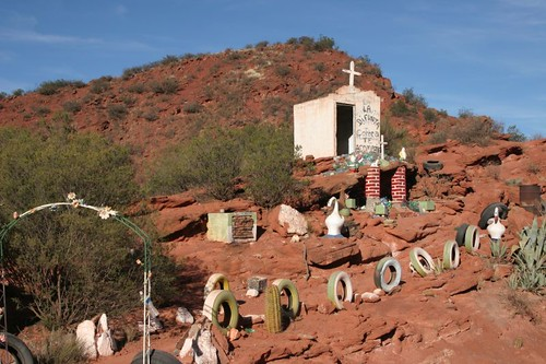 Difunta Correa - a common and weird religious site...