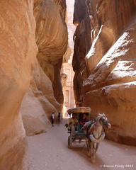 View to the Treasury, Petra, Jordan (Simon Purdy) Tags: horse last petra treasury middleeast canyon jordan gorge indianajones chariot crusade indianajonesandthelastcrusade nabataeans thebestofday gnneniyisi