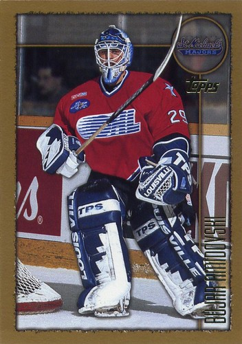 Bujar Amidovski, 98-99 Topps, CHL, OHL, St. Michael's Majors, hockey, hockey cards, goalie