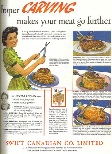 Vintage Ad #605: Martha Logan Says Proper Carving Makes Your Meat Go Further