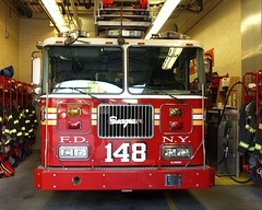 FDNY Ladder 148, Borough Park, Brooklyn, New York City (jag9889) Tags: county city nyc house ny newyork building station architecture brooklyn truck fire company kings borough kensington ladder firehouse boroughpark 2008 fdny department firefighters seagrave bravest 148 itainteasy ladder148 y2008 e282 jag9889