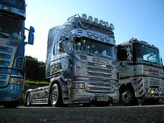 Scania R 620 V8 - Joker (Mr.Awenec - truck and rally photos only) Tags: blue tractor truck semi renault queen brno lorry camion r joker trailer 500 tuning 2008 mack v8 magnum airbrush scania 620 sraz zlín sebus březůvky kapřín jouker žolík