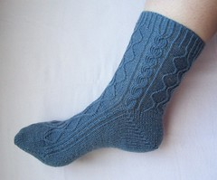 Twisted Hourglass Socks, Side