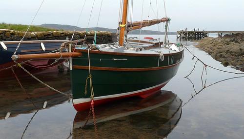 Portencross harbour boat