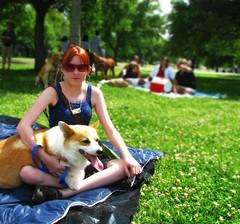 me & kibaroo (Kiraling) Tags: park pembroke corgi welsh kiba dogdayafternoon