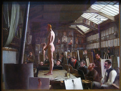 Bouguereau's Atelier at the Academie Julian, Paris , 1891 (Maulleigh) Tags: david art museum de julian young deyoung jefferson atelier 1891 academie chalfant bouguereaus