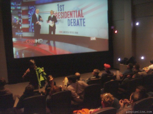 presidential debate at living room theater daily stank image bank