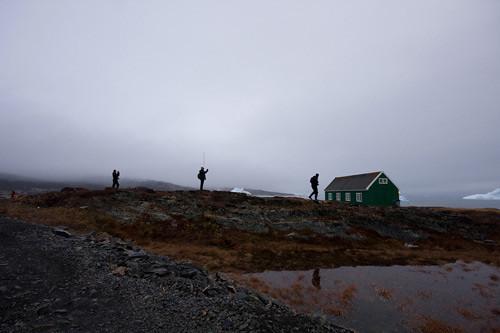 Walking near the shore in Qeqertarsuaq (Godhavn)