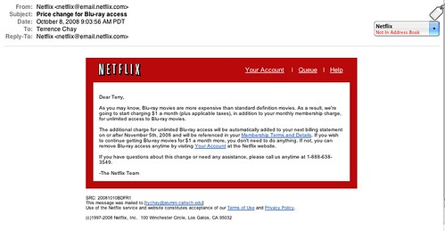 Netflix raises rates for me