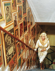 jane mansfield's stairs (lorryx3) Tags: stairs frames jane blonde mansfield janemansfield celebrityhomes