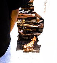 To start a fire...