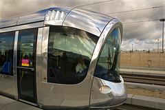 mooie futuristische trams in Lyon