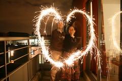 Diwali mubarak! (jepoirrier) Tags: love night fire lights heart fireworks sparkle diwali sparkler