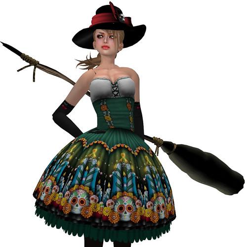 katat0nik  Dia De Los Muertos Dress