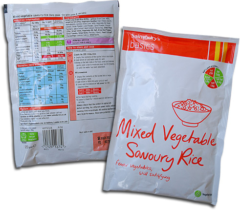 Sainsbury's Basics Mixed Vegetable Savoury Rice