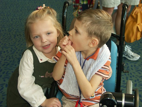 Josh and his best bud Maddie at the concert...