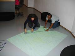 Sarah & Aquino making Aquino's map