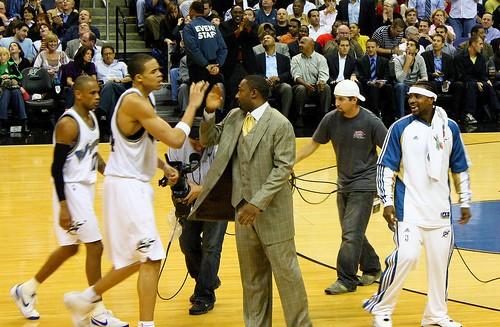 Gilbert Arenas slaps JaVale McGee a fiver