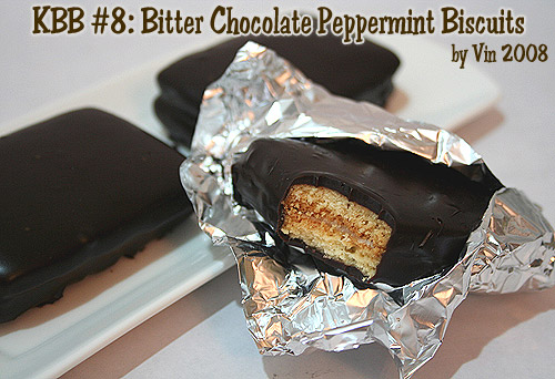 Bitter Choc Peppermint Biscuits