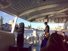 Thames Clipper passes HMS Belfast
