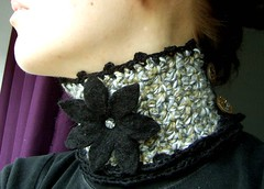 crocheted neckwarmer