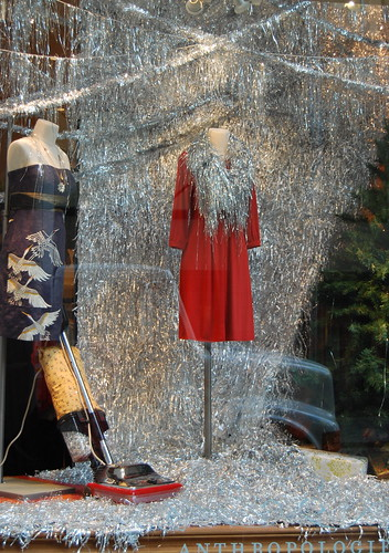 Anthropologie Vacuum Tinsel Display