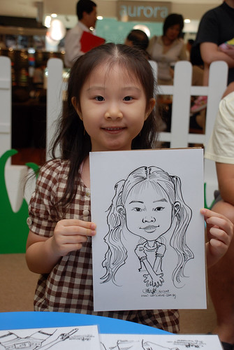caricature live sketching for West Coast Plaza day 2 - 4