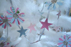 Paper Garland (such pretty things) Tags: christmas pink flowers wallpaper white holiday tree glitter vintage silver scrapbook paper aqua pastel decoration feather garland ribbon shabbychic