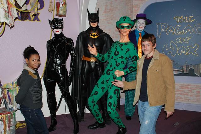 Catwoman, Batman, The Riddler, & The Joker by skittleydoo04
