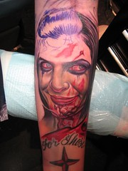 Half way there (BaronessEast) Tags: portrait color tattoo ink zombie nikko realism ignition