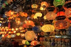 Istanbul Grand Bazaar (samirdiwan) Tags: turkey lights candles market istanbul lanterns lamps 1020 bazar grandbazaar grandbazar abigfave