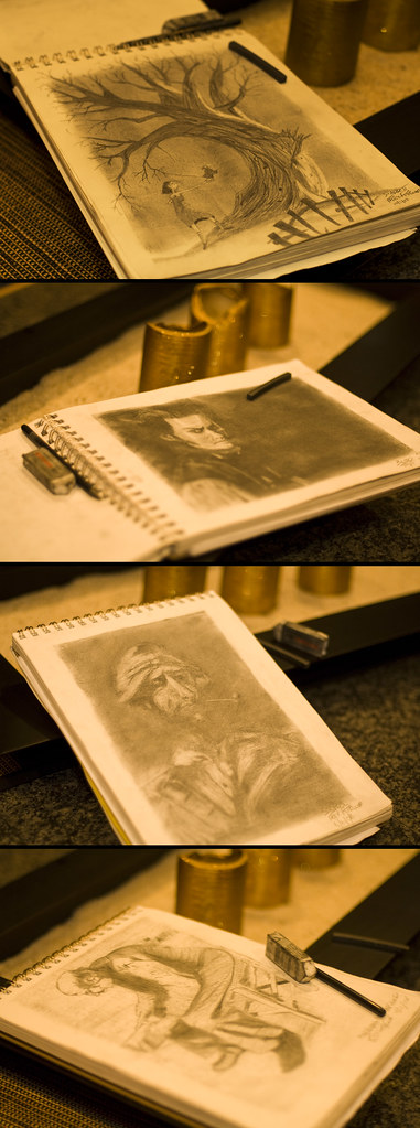 Learning to Draw by Candlelight (by Stuck in Customs)
