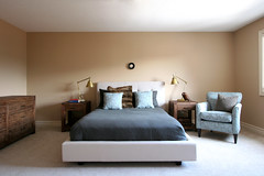 completed bedroom design for young couple