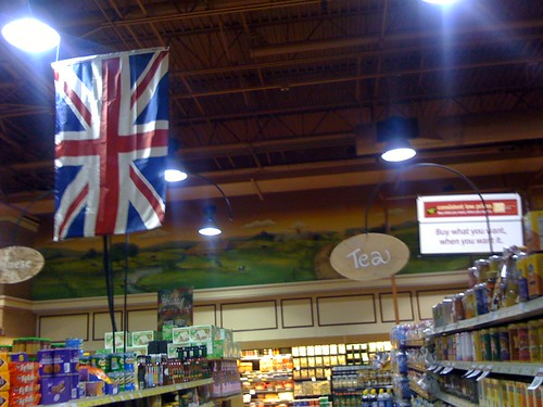 Let's put the tea in the British foods aisle. No stereotype there!