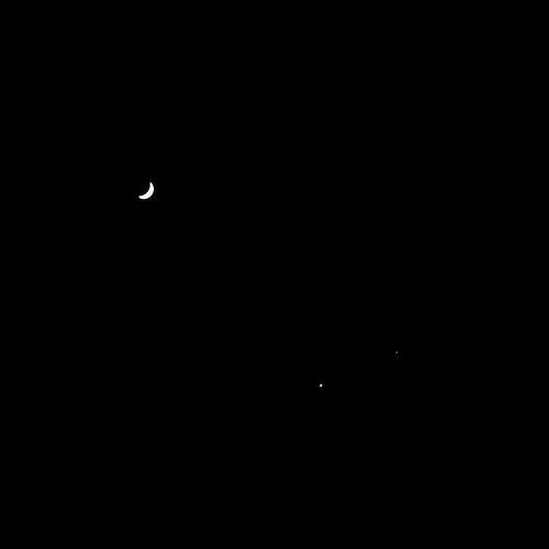 Venus, Jupiter, and the Moon