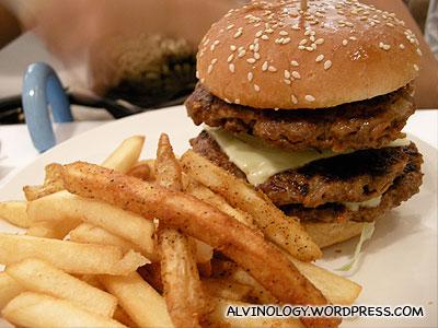 Blue Mountain burger set