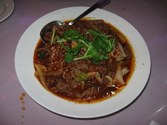 Famous Sichuan: Braised beef filets and napa cabbage with roasted chili