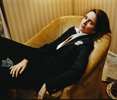 Tina Fey (utiperisi) Tags: portrait people 1 outfit clothing chair women suits furniture performingarts americans prominentpersons celebrities whites females seatingfurniture reclining brunette armchair adults halflength tinafey midadult midadultwoman clubchair