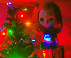 Fiona~decorating the Christmas tree