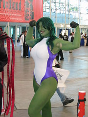 She-Hulk (heath_bar) Tags: california ca sandiego 2008 comiccon onthefloor shehulk sandiegoconventioncenter takenbyrich flickrsexplore sdcc2008