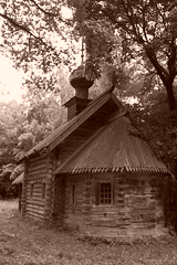 Old church in Nizhny Novgorod Museum of Wooden Architecture (  ) (shotlandka) Tags: church museum sepia architecture wooden russia orthodox nizhnynovgorod       platinumheartaward