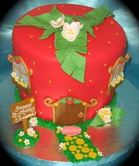 Strawberry Shortcake cake (two parts sugar) Tags: cakes cake cupcakes cupcake missionviejo orangecounty strawberryshortcake