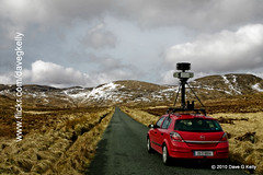 Google Car (Dave G Kelly) Tags: road camera ireland wild irish mountain mountains nature car canon google googlemaps maps 5d canon5d donegal streetview redcar canoneos5d googlecar dublinphotographer googlestreetview davegkelly