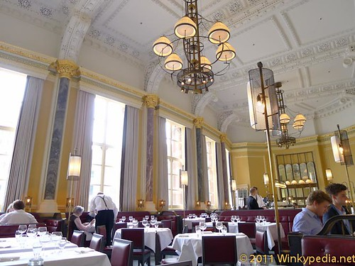 Dining area at Gilbert Scott by Marcus Wareing at St Pancras Hotel