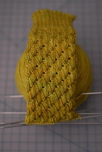 knitting vintage socks progress