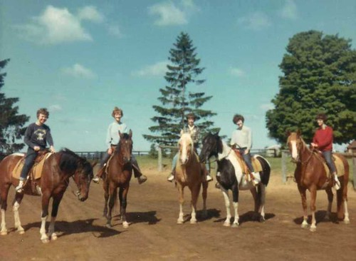 img139_Mary_Linda_Dorthea_Carole_Kathy_on_Horses_at_Jack_and_Jill_Ranch_1966